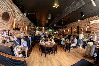 People dine for lunch at Maxwell's Tavern on Main Street in Waxhaw, NC on Saturday, June 14, 2014. Copyright 2014 Jason Barnette
