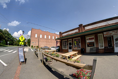 A few shops along Main Street in Waxhaw, NC on Saturday, June 14, 2014. Copyright 2014 Jason Barnette