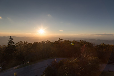 Almost sunset, at Brasstown Bald