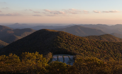 View south from the summit of Brasstown Bald, looking onto the piedmont of north Georgia, in the direction of Gainesville.