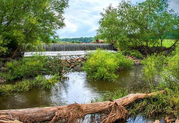 Dam at Bass Lake, Holly Springs, NC