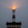 Bodie Island Lighthouse on foggy morning.