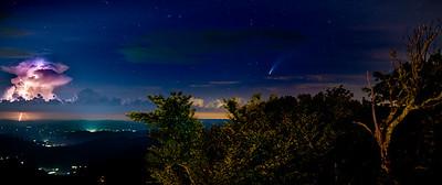 Lightning versus Comet Neowise