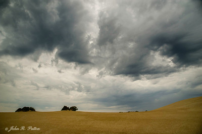 Storm clouds over Jockey's Ridge State Park