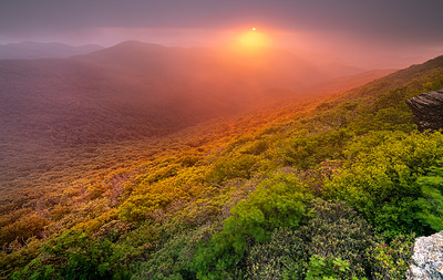 Foggy Sunset at Craggy Gardens