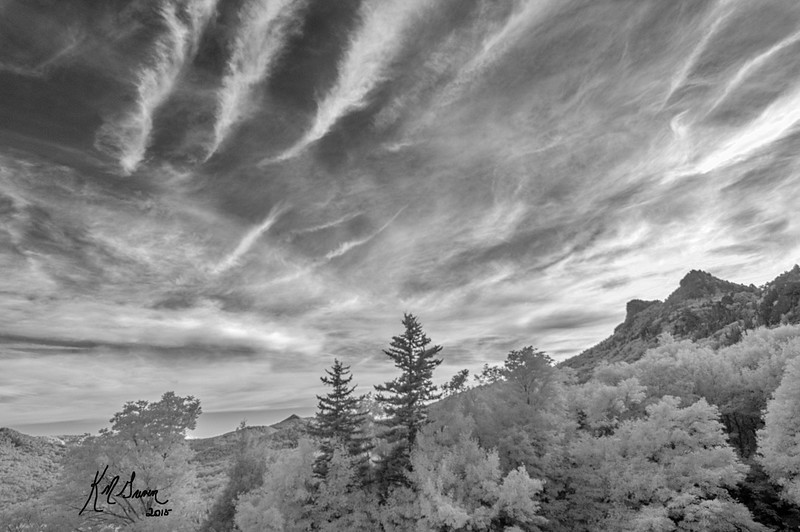 Infrared Clouds at Grandfather
