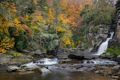 Fall Morning at Linville Falls