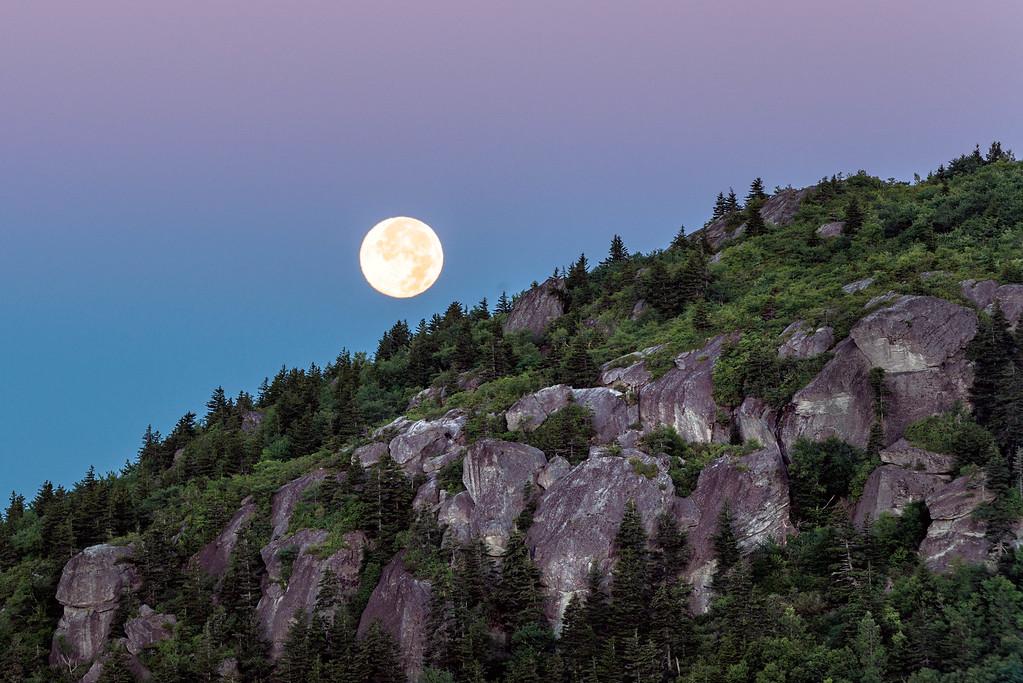 Blue Moon over Grandfather Mountain