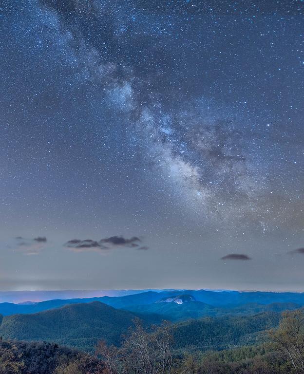 Milky Way above Looking Glass Rock
