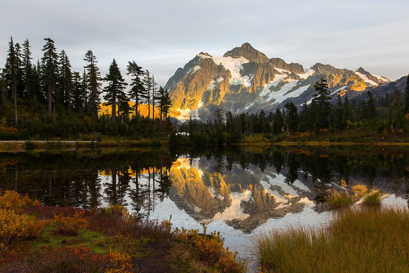 Mt Shuksan from Picture Lake 30
