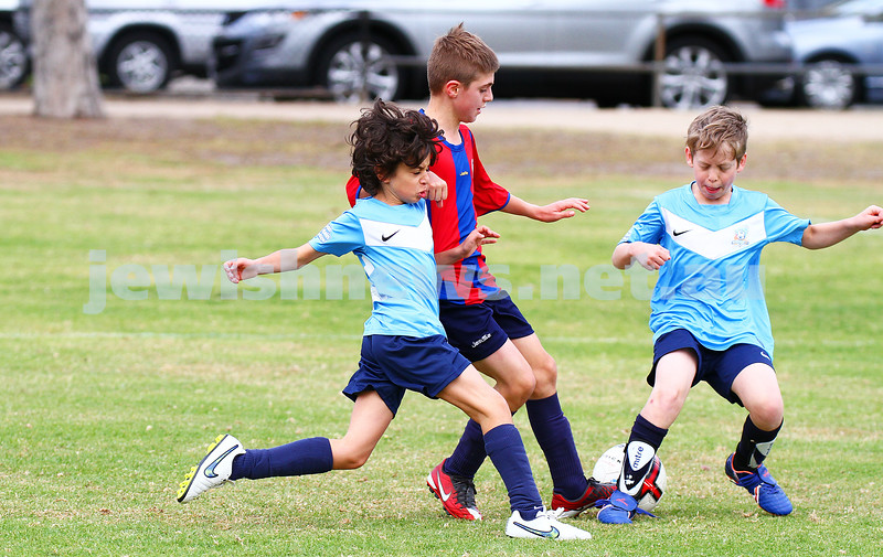 12-4-15. Soccer. North Caulfield Junior Football Club. U 11 Eagles v Port Melbourne Sharks. Caulfield park.  Photo: Peter Haskin