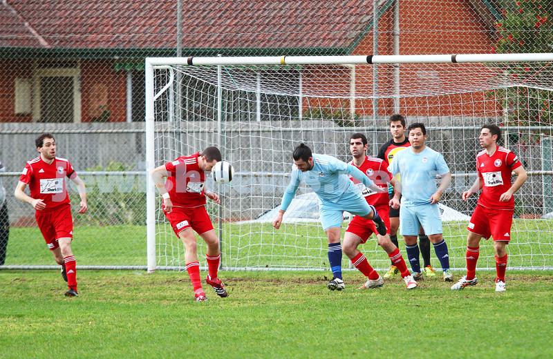 6-7-14. North Caulfield Maccabi lost to Frankston 1 - 2.  Photo: Peter Haskin