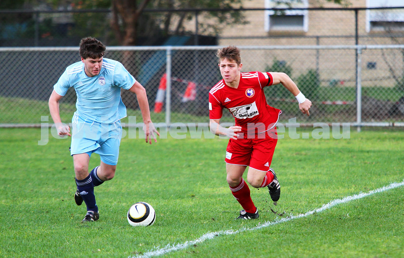 6-7-14. North Caulfield Maccabi lost to Frankston 1 - 2. Maccabi keeping making a timely save. Photo: Peter Haskin