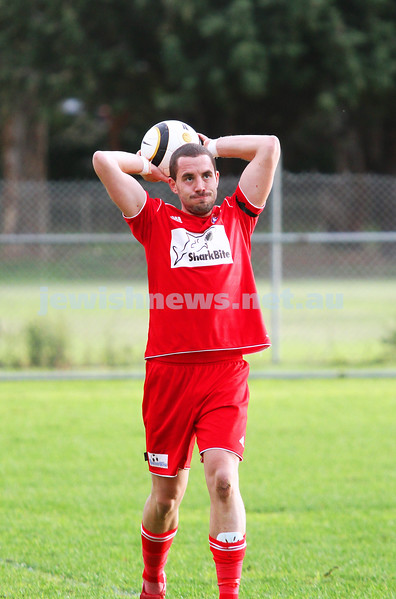 6-7-14. North Caulfield Maccabi lost to Frankston 1 - 2 at Monterey Reserve.  Photo: Peter Haskin