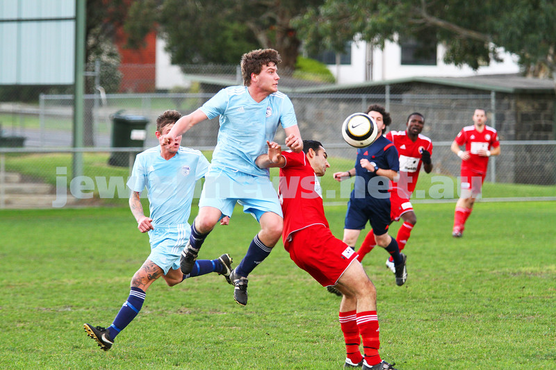6-7-14. North Caulfield Maccabi lost to Frankston 1 - 2.  Photo: Peter Haskin