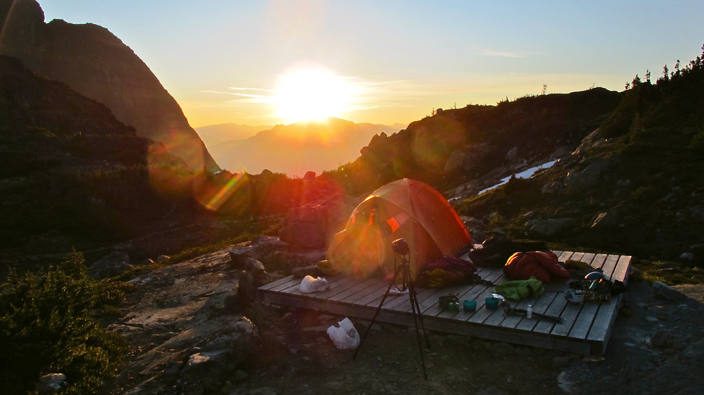 """Our camping spot For the story check out: <a href=""""http://www.nomadbiba.com/wp/2011/09/full-moon-mission-up-wedgemount/""""> Full Moon Mission Up Wedgemount</a>"""