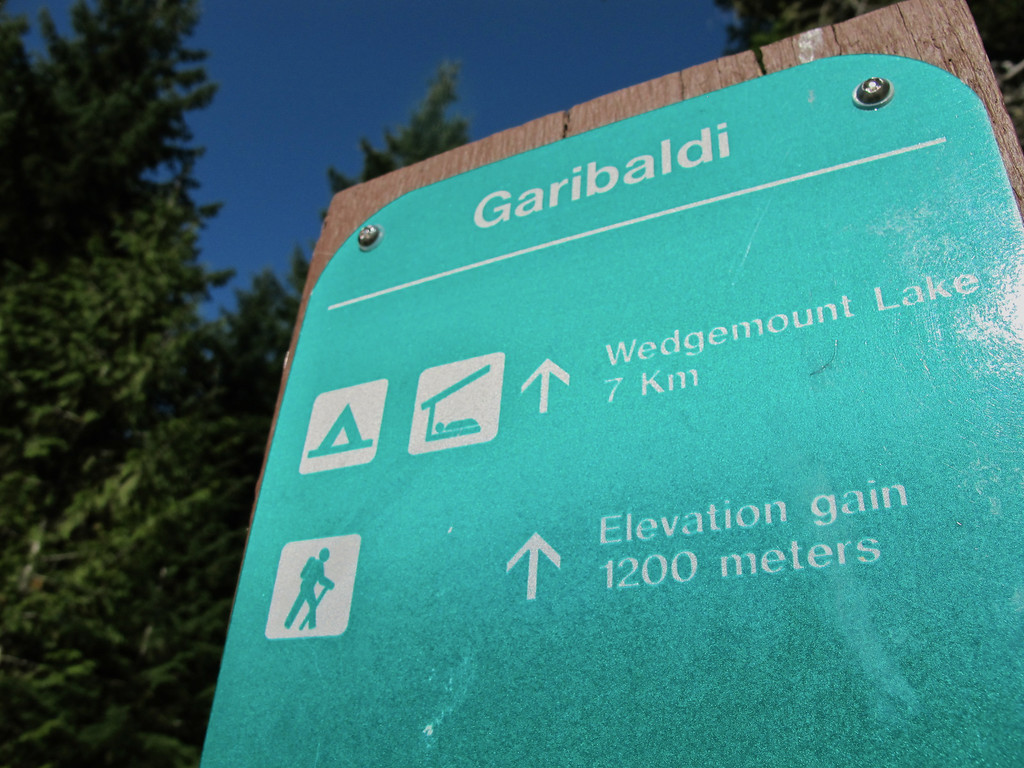"""Sign for Wedgemount Lake For the story check out: <a href=""""http://www.nomadbiba.com/wp/2011/09/full-moon-mission-up-wedgemount/""""> Full Moon Mission Up Wedgemount</a>"""