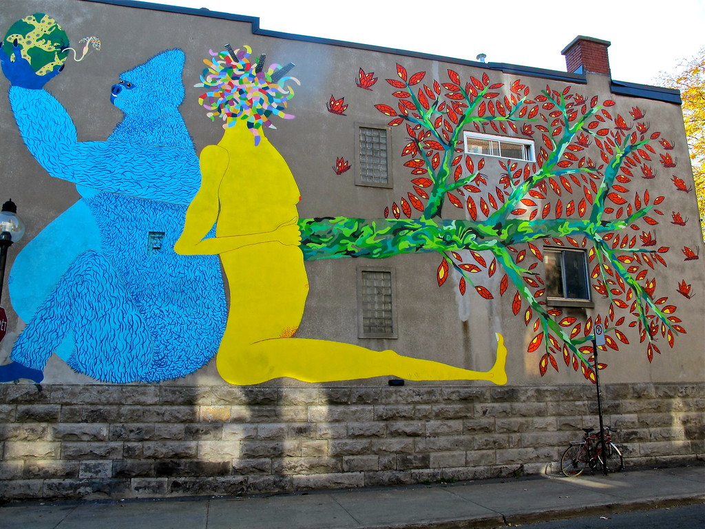 """Street art near Mont Royal St. in Montreal QC (Canada) For the story check out my post: <a href=""""http://www.nomadbiba.com/wp/2011/12/montreal-street-art/""""> Montréal – Street Art</a>"""