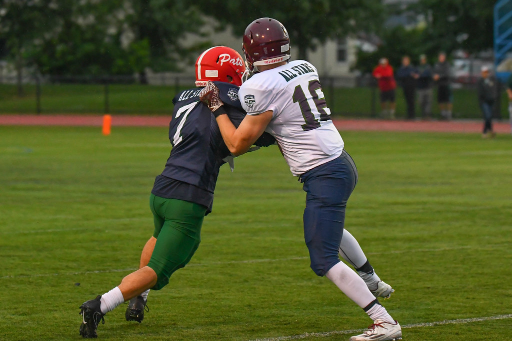 . The North Central Mass and South Central Mass All-Stars squared off in the fourth annual Joseph R. Mewhiney Central Mass. Chapter All-Star football game. Sentinel & Enterprise/Ed Niser