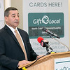 Tony Mercadante Chairman of the Board for the North Central Massachusetts Chamber of Commerce's talks about their new gift card at their headquarters in Fitchburg on Tuesday afternoon. SENTINEL & ENTERPRISE/JOHN LOVE