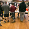 The polls at the Fitchburg Senior Center on Tuesday morning. SENTINEL & ENTERPRRISE/JOHN LOVE