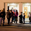 A line stretches outside St. Joe's during Election Day on Tuesday in Fitchburg. SENTINEL & ENTERPRISE / Ashley Green