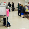 A line of voters stretches at St. Joe's during Election Day on Tuesday in Fitchburg. SENTINEL & ENTERPRISE / Ashley Green