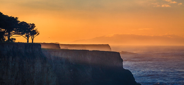 Sunrise over Davenport Cliffs