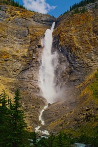 Takakkaw Falls into the Yoho River Valley