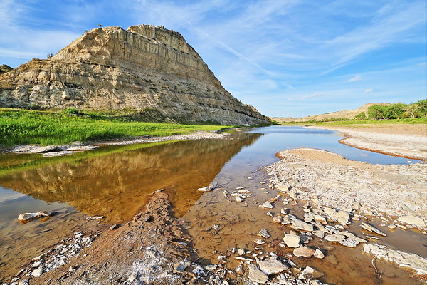 Along the Little Missouri River in Theodore Roosevelt National Park