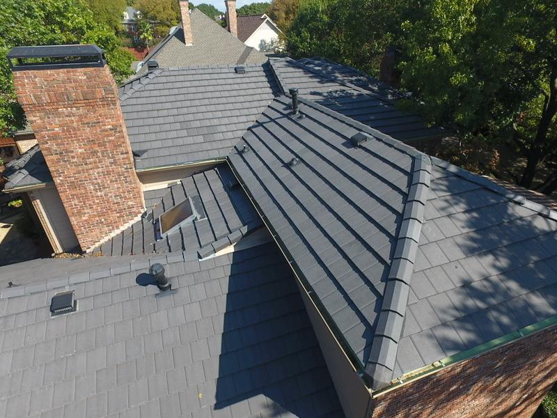 North Dallas Charcoal Concrete Tile