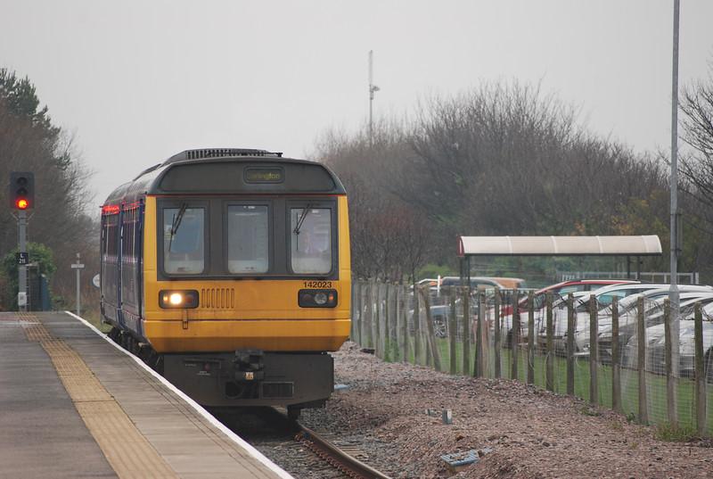 142 023 <br /> <br /> arrives Saltburn on 12.53 Darlington - Saltburn