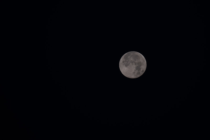 Super Moon after the eclipse