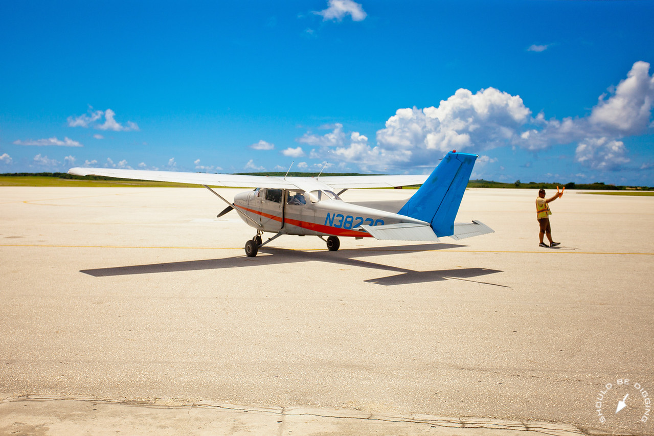 The Cessna to Tinian