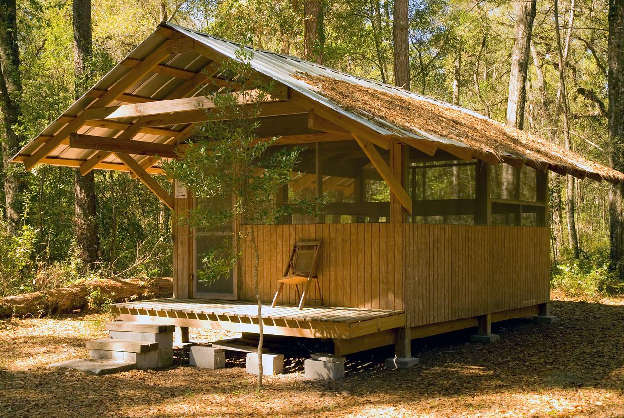 Iron Bridge Shelter<br /> Etoniah Creek State Forest<br /> PHOTO CREDIT: M. Timothy O'Keefe / Florida Trail Association