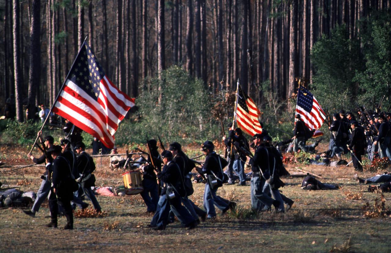Civil War reenactment at Olustee<br /> PHOTO CREDIT: Bart Smith/ Florida Trail Association