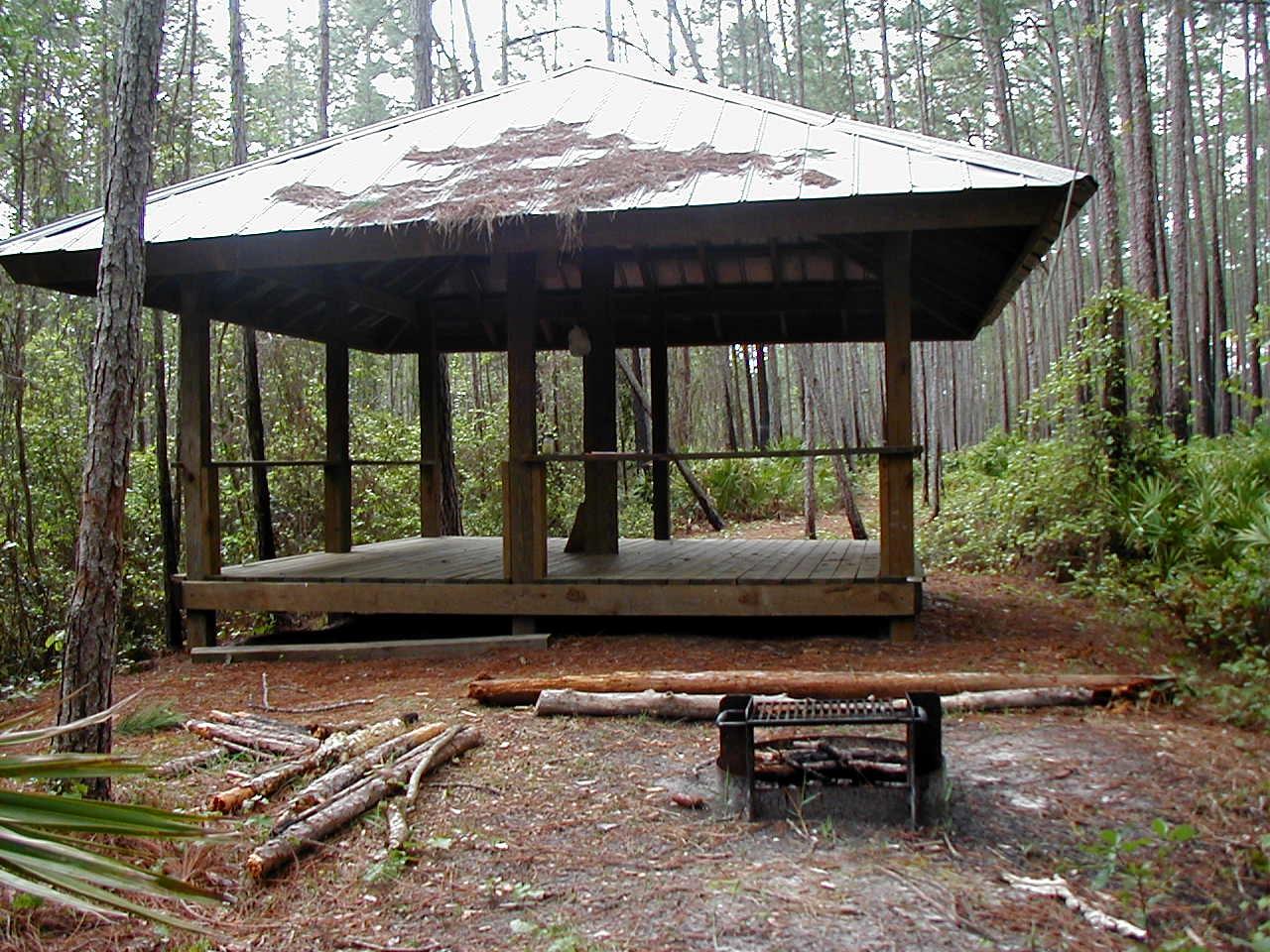 Osceola Shelter<br /> PHOTO CREDIT: Deb Blick/ Florida Trail Association