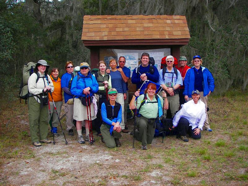 Kickoff of 7/70 Hike<br /> photo credit: Deb Blick / Florida Trail Association