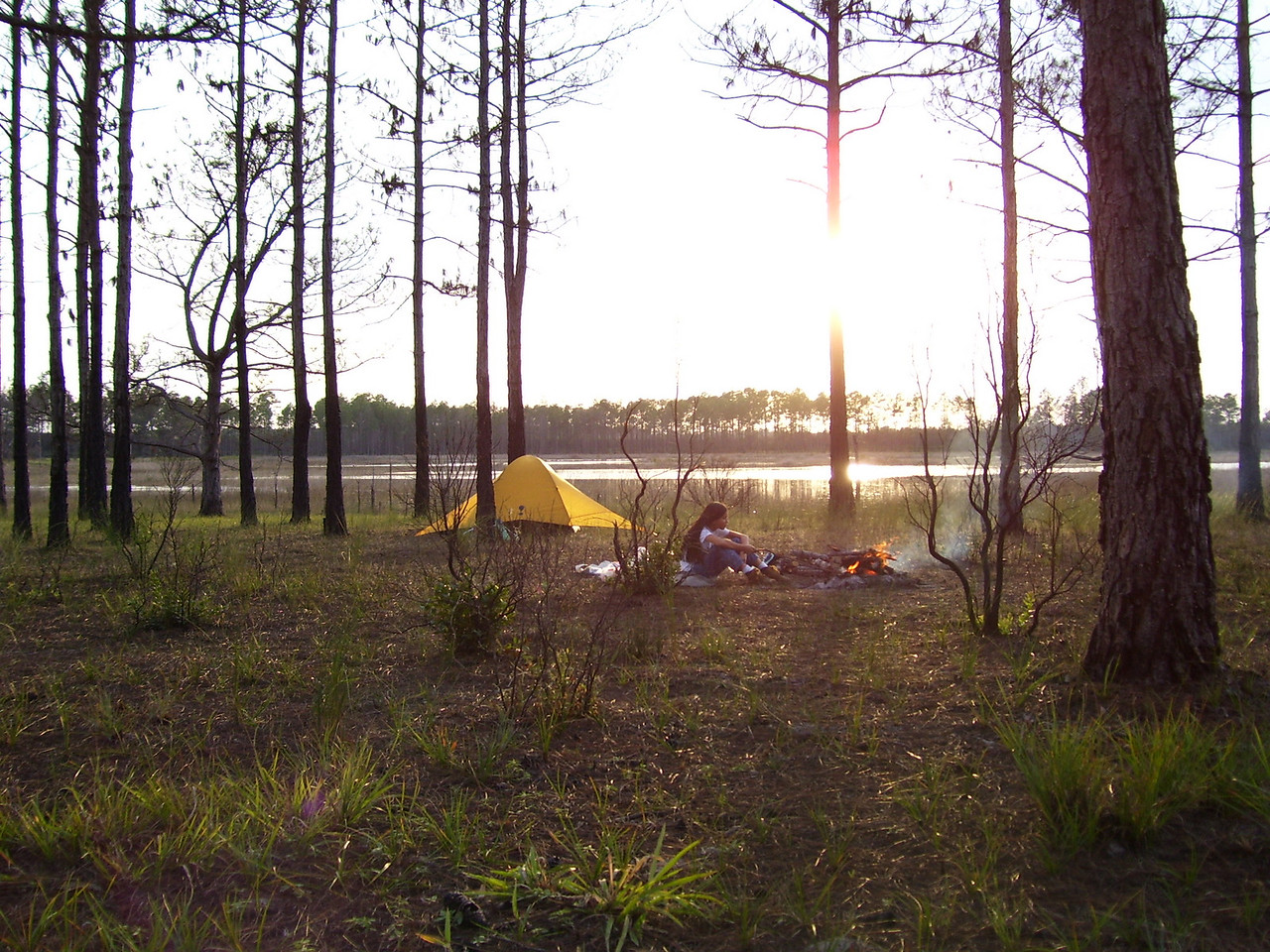 Camping at Hidden Pond. photo credit: Lenny Chew / Florida Trail Association
