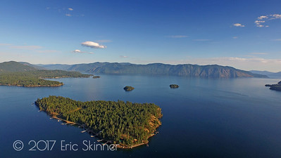Warren Island Lake Pend Oreille Views
