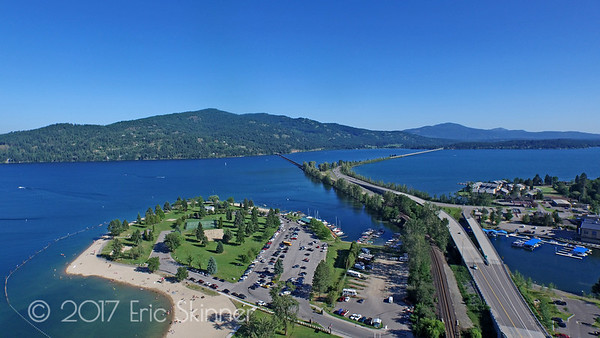 Sandpoint City Beach Looking South