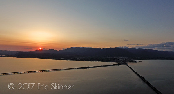 Sunset over Sandpoint