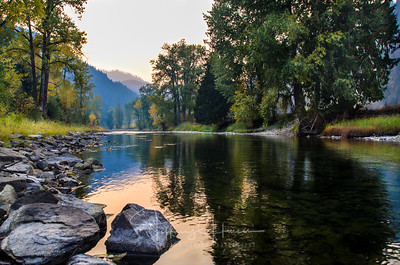 North Fork CdA River Smokey Sunset