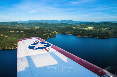 Flying Over Lake Coeur d'Alene