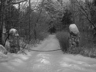 Stone pillars entrance
