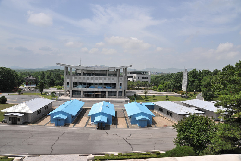 The DMZ from the North Korean side-- Joint Security Area / Truce village (Panmunjom)