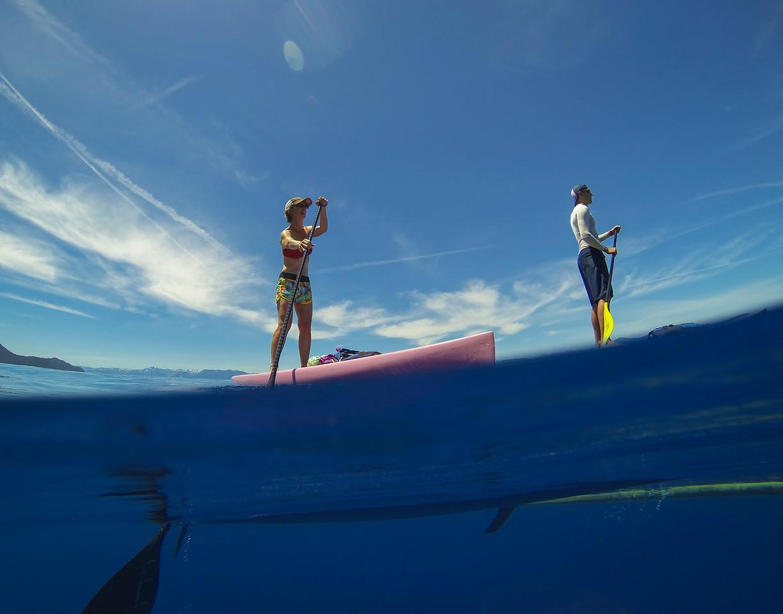 SUP below Lake Tahoe