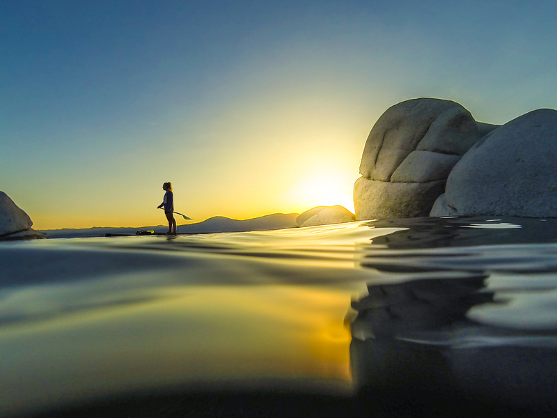 Speedboat Beach Stand Up Paddle Boarding at Lake Tahoe