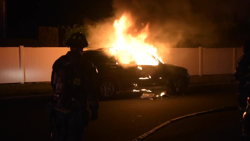 North Lindenurst Suspicious Car Fire- Paul Mazza