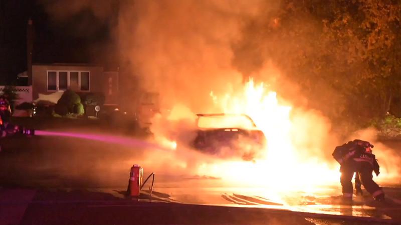 North Massapequa Car Fire